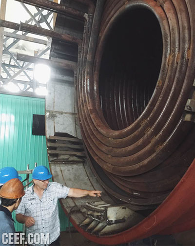 Thermal oil heater inspection
